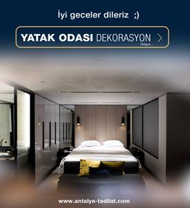 Antalya yatak odası dekorasyonu
